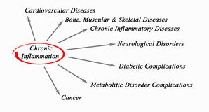 Kronisk inflammation stock illustrationer