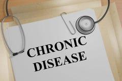 Kronisk sjukdom - medicinskt begrepp Royaltyfri Bild