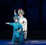 """Kronkel de zuster-zesde overstromingen gouden heuvel-Kunqu Opera""""Madame Witte Snake† van het handelingswater Royalty-vrije Stock Afbeeldingen"""