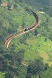 Kronkelig spoorwegspoor stock afbeeldingen