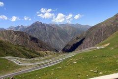 Kronkelige weg in de bergen Stock Fotografie
