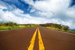 Kronkelige weg die door de bergen winden Stock Fotografie