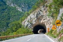 Kronkelige weg in Montenegro Stock Afbeelding