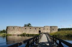 Kronoberg城堡vaxsjo smaland瑞典废墟utsid  库存照片