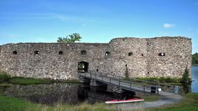 Kronoberg Castle Ruin stock footage