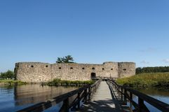 Kronoberg Castle ruin utsid of vaxsjo smaland sweden Stock Photo