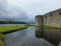 Kronoberg Ruin - Vaxjo - Sweden. Kronoberg Ruin in Vaxjo - Sweden near lake Helgo Stock Photo
