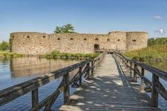 Kronobergs Castle Ruin Bridge Stock Image