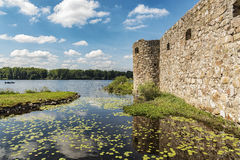 Kronobergs Castle Ruin Lakeview Stock Photos