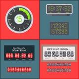 Kronometer för larm för design för minut för tecken för tid för illustration för timme för symbol för nedräkning för stoppur för  royaltyfri illustrationer