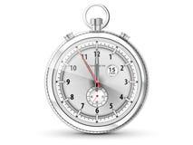 Kronometer med den vita visartavlan vektor illustrationer