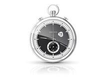 Kronometer med den vita visartavlan stock illustrationer