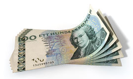 Kronor Bank Notes Spread Royalty Free Stock Images