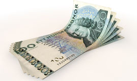 Kronor Bank Notes Spread Stock Image