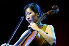 Kronos Quartet (American string quartet), concert at Heineken Primavera Sound 2014 Royalty Free Stock Images
