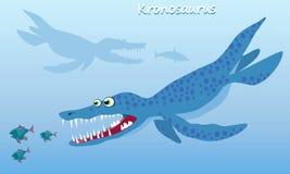 Kronosaurus. Huge sea dinosaur of the Cretaceous period Stock Images