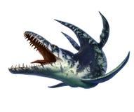 Kronosaurus was een marien reptiel stock illustratie
