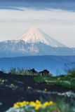 Kronotskaya Sopka - active volcano on Kamchatka Peninsula Stock Photo