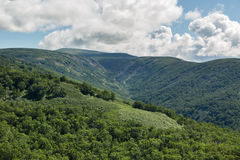 Kronotsky Nature Reserve on Kamchatka Peninsula. View from helicopter. Royalty Free Stock Photo