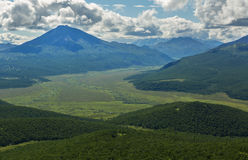 Kronotsky Nature Reserve on Kamchatka Peninsula. View from helicopter. Stock Photography