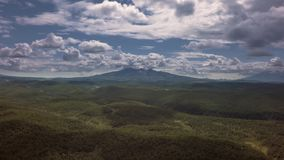 Kronotsky Nature Reserve on Kamchatka Peninsula. View from helicopter stock footage video stock video
