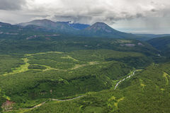 Free Kronotsky Nature Reserve On Kamchatka Peninsula. View From Helicopter. Royalty Free Stock Images - 79276359