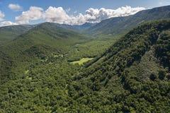 Kronotsky rezerwat przyrody na półwysepie kamczatka Widok od helikopteru Zdjęcia Stock