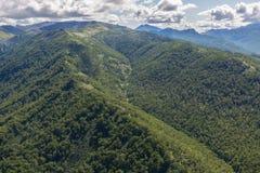 Kronotsky rezerwat przyrody na półwysepie kamczatka Widok od helikopteru Obraz Stock