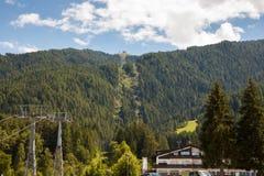 Kronplatz nel Tirolo del sud Italia Fotografia Stock