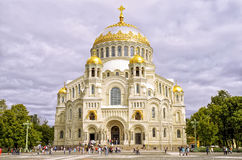 Kronshtadt, Orthodox Naval cathedral. Orthodox Naval cathedral in Kronshtadt, St.Petersburg, Russia Stock Image