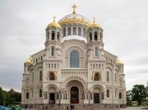 Kronstadt海军大教堂, Kronstadt,圣彼德堡,俄罗斯 免版税库存照片