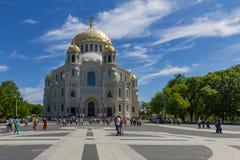 Kronstadt, Ρωσία - τον Ιούνιο του 2016 Ο ναυτικός καθεδρικός ναός Άγιου Βασίλη σε Kronstadt στοκ φωτογραφία με δικαίωμα ελεύθερης χρήσης