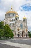 Kronstadt Собор St Nicholas (моря) стоковая фотография