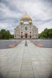 Kronstadt Собор St Nicholas (моря) стоковые фотографии rf