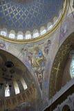 Kronstadt 俄国 圣Nicho海军大教堂的内部  库存图片