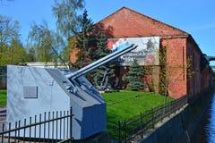Kronstadt Amirauté et installation d'artillerie de la révolution d'octobre de bateau, St Petersburg, Russie Photos libres de droits