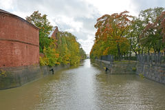 Kronstadt canal Royalty Free Stock Photo