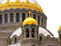 Kronstadt Catedral naval Imagen de archivo libre de regalías