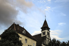 Kronstadt-Haus-Glockenturm Stockbild