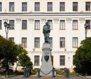 Kronstadt Monument P K Pahtusovu - Onderzoekers Novaya Zemlya 1832-1835 Stock Afbeelding