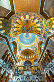 Kronstadt Naval Cathedral. Beautifully decorated interior of the Kronstadt Naval Cathedral in downtown Kronstadt, Russia Royalty Free Stock Photography