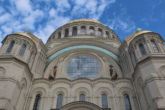 Kronstadt Naval Cathedral and blue sky Stock Images