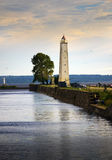 Kronstadt promenade to the pier with a lighthouse . St. Petersburg.Russia Stock Photography