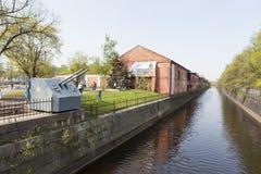 Kronstadt Rusia Canal de Obvodny Fotos de archivo