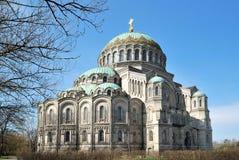 Kronstadt. Zee Kathedraal royalty-vrije stock afbeeldingen