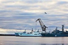 kronstadtport Royaltyfria Foton