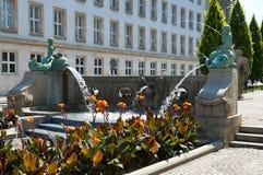 Kronthal fontanna lub fontanna z delfinami poznan Zdjęcie Royalty Free