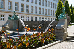 Kronthalfontein of fontein met dolfijnen poznan Royalty-vrije Stock Foto