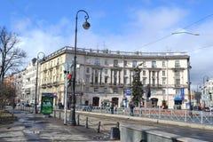 Kronverksky-Allee in St Petersburg Lizenzfreies Stockfoto