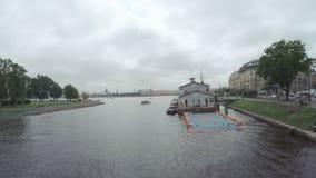 Kronverksky Strait river stock video footage
